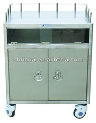 B24 Stainless steel hospital trolley for anesthesia