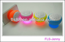 Funny portable waterproof shower bluetooth speaker, able adsorb on wall and car with beautiful light new gadget gift