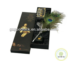 Peacock Feather Gift Pen and Metal Pen Set Wholesale