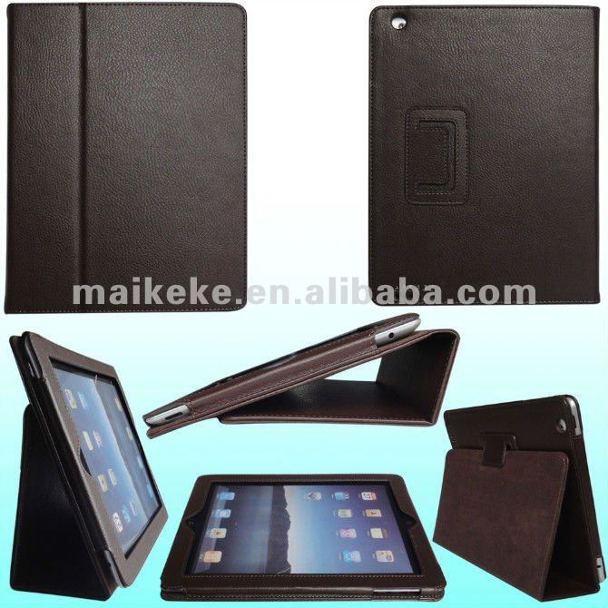 New leather magnetic flip protector case cover stand for ipad 3 for apple ipad 5 black