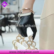 Fashion design ladies white bowknot gloves leather