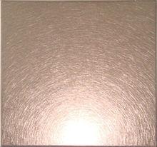 316 decorative stainless steel sheets,vibration finished,bronze coating