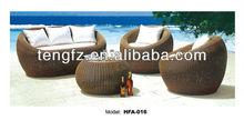2013 rattan wicker furniture egg shaped sofa with aluminum fram hot sale
