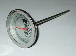 Stainless Steel Oven Cooking Probe Thermometer Meat BBQ Poultry Beef Lamb Pork