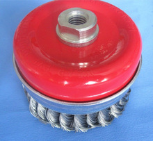 stainless steel wire cup brush