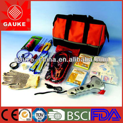 auto safety kit roadside car emergency kit with booster cable for EU Market china manufacture