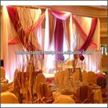 Backdrop pipe and velvet hemp soft fabric drapery