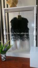 real raccoon fur gilet/ 2013 winter fur vest