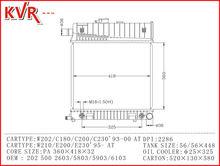 Tubo de aletas de radiadores para W202 C180 200 220 230 93 00 With OEM 2205000003 0103