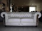 leather chesterfield sofa white leather sofa design F830#