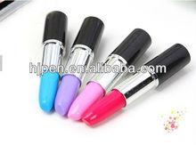 Hot Selling Novelty Design Plastic Lipstick Shape Promotional Gift Ballpoint Pens