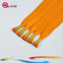 Fusion I Tip Human Stick Orange Expensive Hair Extension