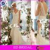 T87 Exquisite Mermaid Sleeveless Trailing Fashion Applique Wedding Dress 2013