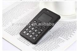 Mini credit card small size mobile phones,Quadband GSM ( MP3, FM, Bluetooth)