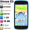 "Mobile Phone with 4.7"" MTK6589 Quad Core Android 4.2 1280x720p 16GB ROM 1GB RAM 2.0MP 8.0MP Camera Gionee E3 Mobile Phone"