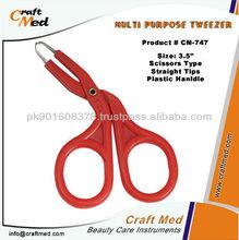 Scissors Type Plucking Tweezers.