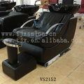 fibra de vidro preto shampoo cadeira com pé de descanso