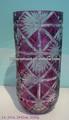 vetro in cristallo vaso di fiore viola