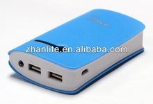 8400mAh dual usb power bank for macbook pro /ipad mini with led flashlight
