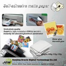adhesive paper , Waterproof,135gsm Sticker Paper for inkjet printer