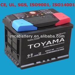 Good Quality Maintenance Free Car Battery Auto Battery 12V55Ah