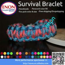 cheap survival bracelet football team paracord bracelet adjustable paracord bracelet
