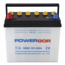 JIS Standard NS60 12v 45ah car dry cell batteries