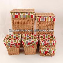 Pop up Rectangle wicker Laundry hamper Baskets