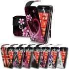 flower desgin pu leather case filp cover for nokia 510