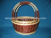 Rattan and wire fruit basket --Natural,beautiful