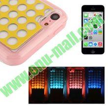 4 Colors Changing Sense Flash Light LED Hard Case for iPhone 5C