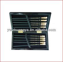 High gloss piano black lacquer finish wooden gift box pen, pen set gift box, pen packaging box