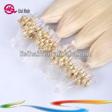 Super 5A Sale Keratin prebonded European ring-x hair extension