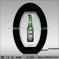Acrylic maglev Levitating display racks for beer bottle/can/ Amazing advertising Equipment with LED lights W-7024