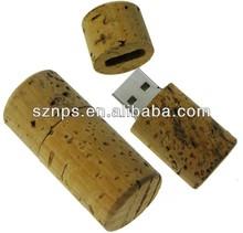Wholesale OEM design wooden wine cork 16gb usb