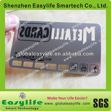 Brand Logo stainless steel magnetic strip metal membership card