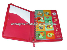 ADADC - 0017 pu leather notebook cover / notebook leather portfolio / leather bound journals