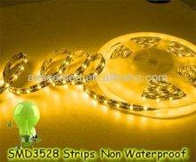 High brightness SMD 3528 backlight DC12V LED flexible strip for window decoration