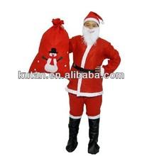 Atacado Red completa Suit papai noel pai natal traje