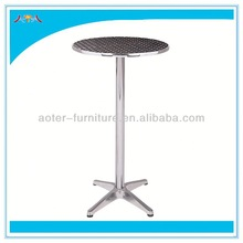 Outdoor stainless steel high bar cocktail table