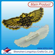 Pilot wings high quality custom Plastic Badge Pin for promot/custom cheap lapel pin badges/metal badge pin China maker