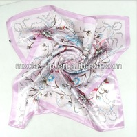 40X40 square gift silk scarf
