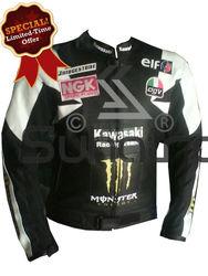 Motorcycle Sportbike MotoGP Kawasaki Leather Jacket Motorcycle Leather Jacket