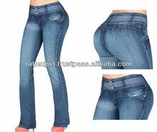 Unique Shaded Fashionable Pretty Girl Denim Jeans 2013