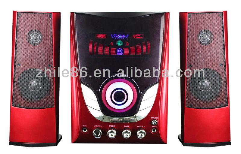 2.1 professional multimedia speaker system for home