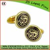 high quality gold enamel cufflinks with custom logo