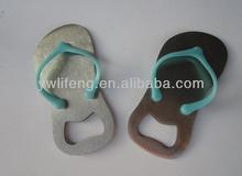 2013 3D shoe shape cute soft pvc personalized bottle openers