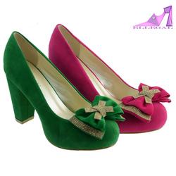 girls pink bow high heels platform dress shoes