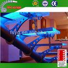 Indoor Steel Glass Spiral Stairs