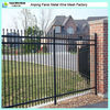 3-rail picket top residential steel fence